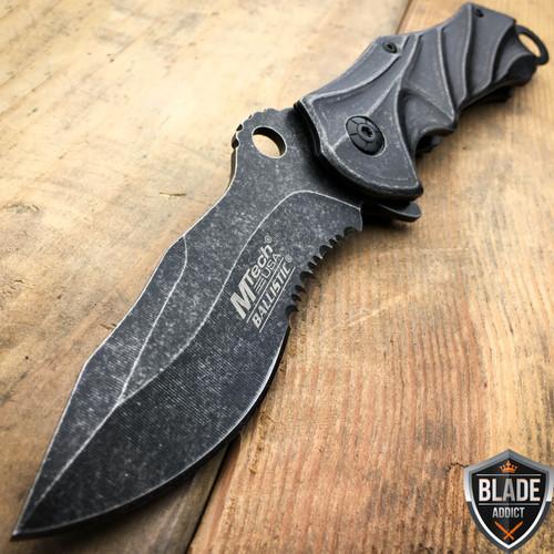 "8.5"" MTECH Stonewash Phantom Spring Assisted Pocket Knife"