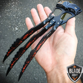 Insane Zombie Wolverine Claws Knife Slasher Survival Blade
