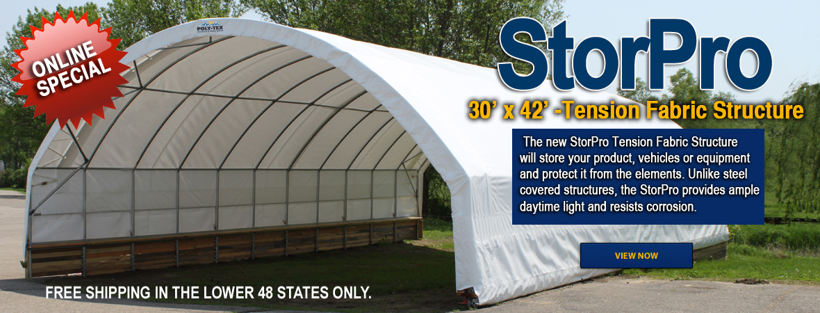 StorPro 30' x 42'-Tension Fabric Structure (Online Special)