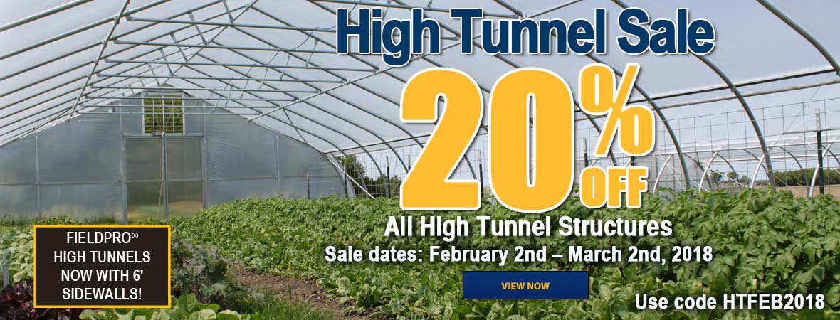 20 percent off all high tunnel structures!
