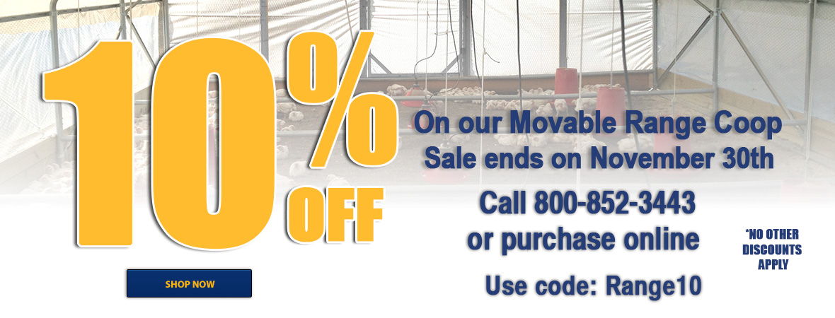 10% off our Movable Range Coop