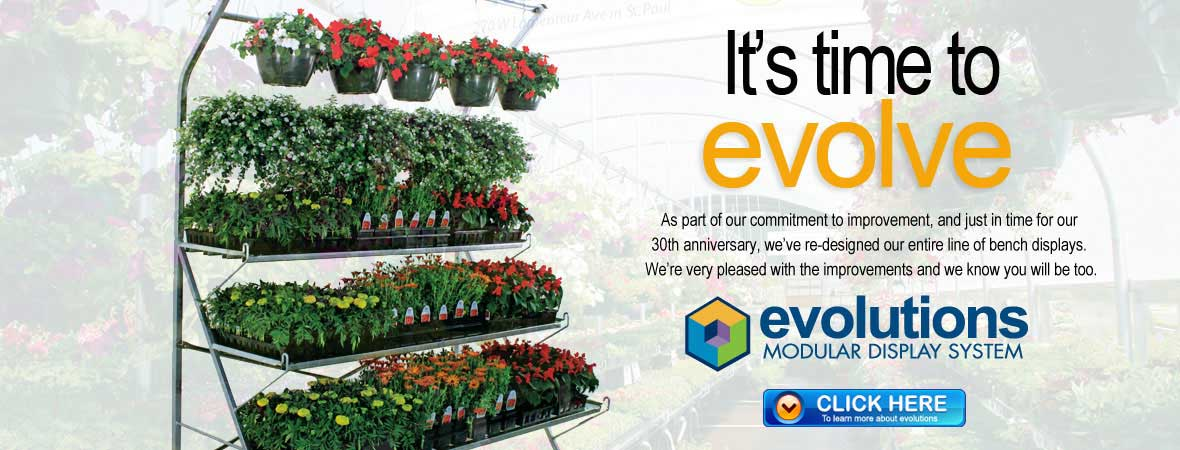 Evolutions Modular Retail Greenhouse Plant Displays