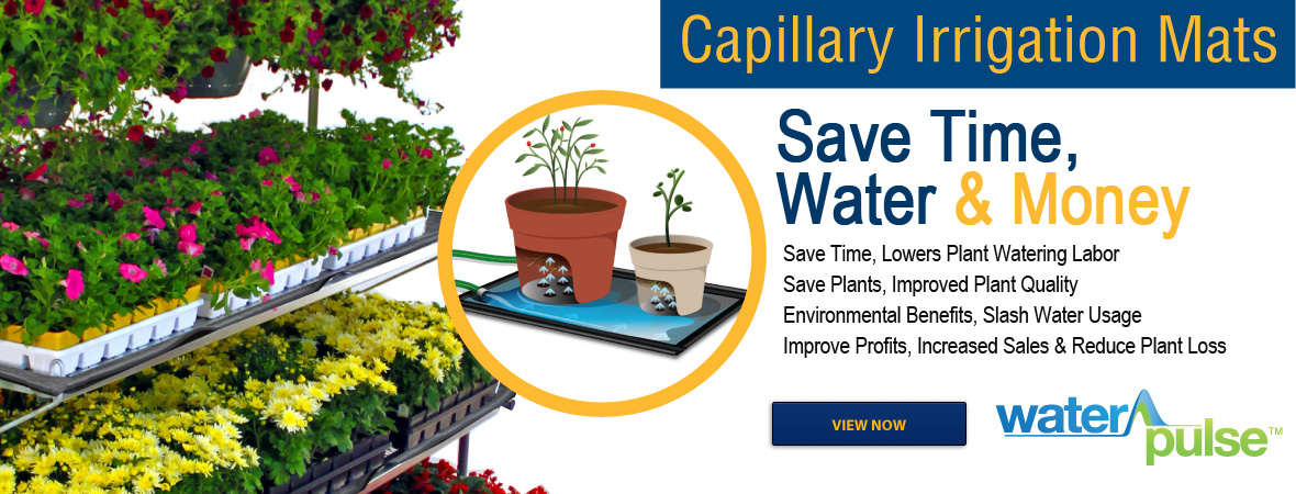 WaterPulse™ Capillary Action Mats for Retail Garden Centers