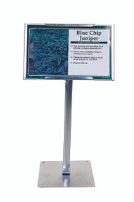 "Col-Met® 12"" Sign Holder with Base (case pack 25)"