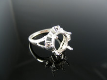 5450 RING SETTING STERLING SILVER, SIZE 7, 10X8 MM OVAL STONE