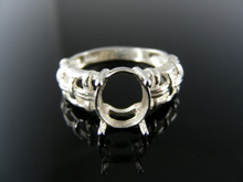5690 RING SETTING STERLING SILVER, SIZE 6.75, 10X8 MM OVAL