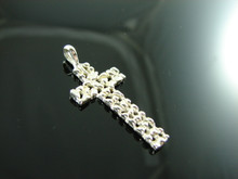 125 Sterling Silver Nugget Cross Pendant
