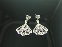 4017 Dangle Style Earring Settings Sterling Silver