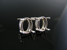 ER10 EARRING SETTING STERLING SILVER, 8X6 MM OVAL STONE
