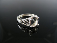 2367  RING SETTING STERLING SILVER, SIZE 8, 10X8MM OVAL STONE
