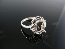 5429 RING SETTING STERLING SILVER, SIZE 8, 10X8 MM OVAL STONE