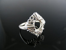 4990  RING SETTING STERLING SILVER, SIZE 8.75, 10X8 MM OVAL STONE