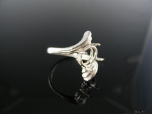 5446 RING SETTING STERLING SILVER, SIZE 7, 10X8 MM OVAL STONE
