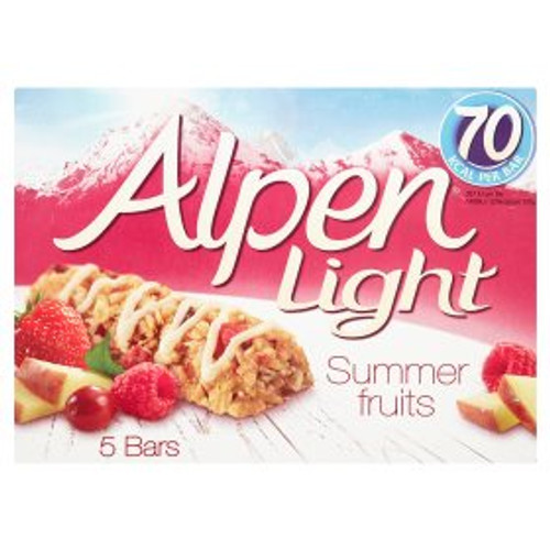 Alpen Light Summer Fruit Cereal Bars 5 x 19g