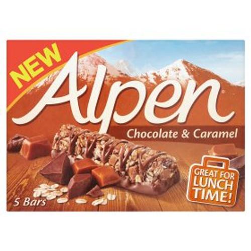 Alpen Caramel & Chocolate Cereal Bars 5 x 29g