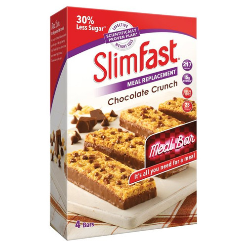 Slimfast Meal Replacement, Chocolate crunch Four Bar pack