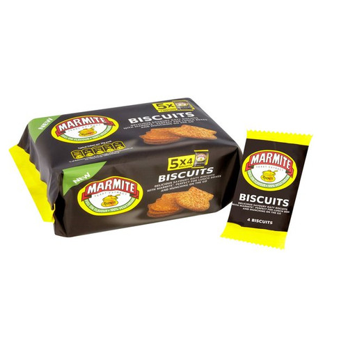 Fudges Marmite Snack Pack Biscuits 5 x 24g