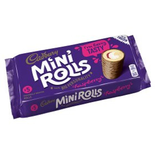Cadbury Raspberry Mini Rolls 5per Pack