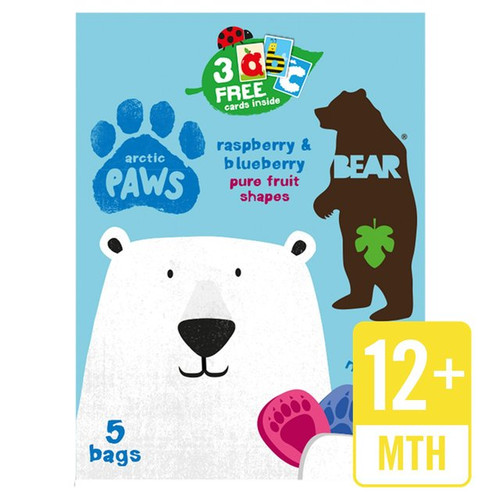 Bear Fruit Paws Arctic Raspberry & Blueberry Multipack 5 x 20g