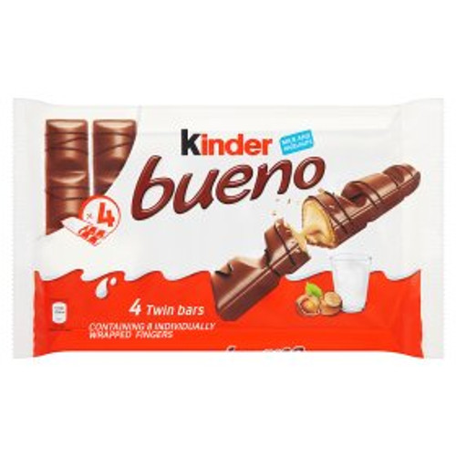 Kinder Bueno Milk Chocolate Bar 4 Pack 4x43g