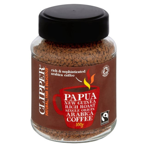Clipper Fairtrade Organic Instant Papua New Guinea Coffee  100g
