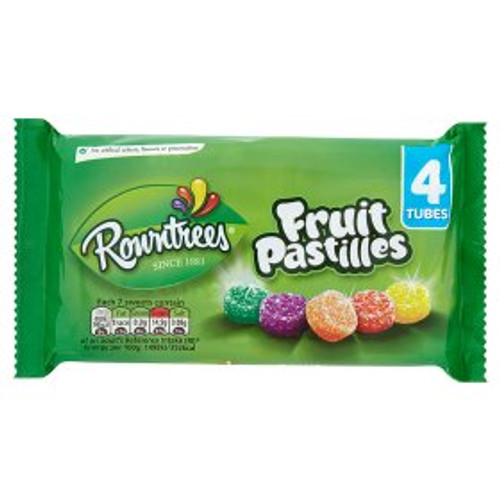 Rowntrees Fruit Pastilles Sweets 4 Pack 4x52g