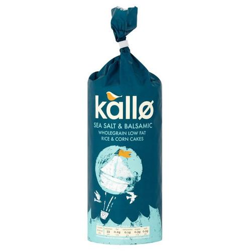 Kallo Sea Salt & Balsamic Vinegar Rice & Corn Cakes 122g