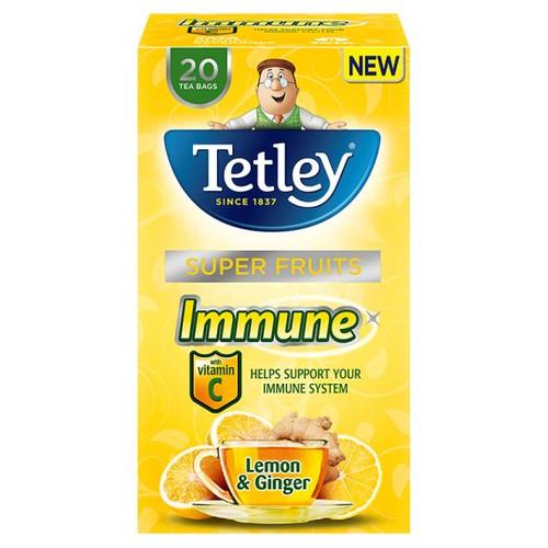 Tetley Lemon And Ginger 20 Tea Bags 40G