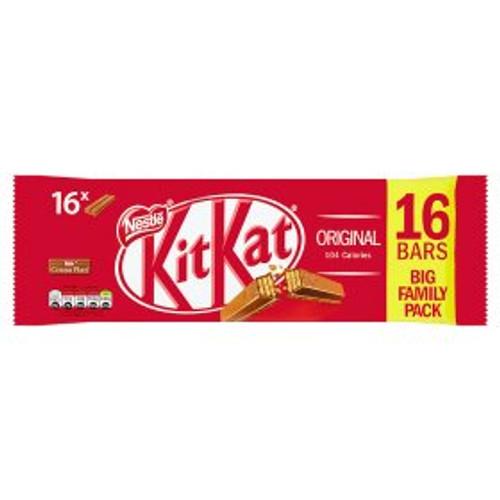 Nestle KitKat 2 Finger Milk Chocolate Biscuit Bar 16 Pack