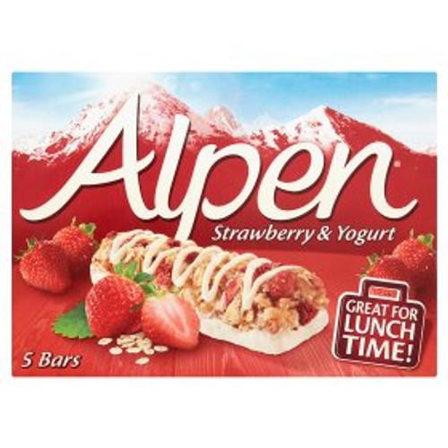 Alpen Strawberry & Yogurt Cereal Bars 5x29g