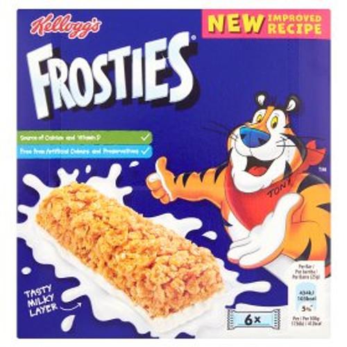 Kellogg's Frosties Cereal & Milk Bars 6x25g
