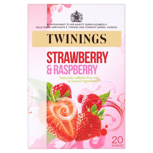 Twinings Strawberry & Raspberry Tea Bags 20 per pack