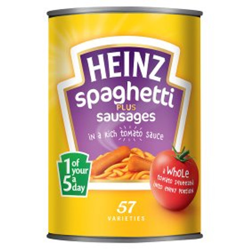 Heinz Spaghetti with Sausages in Tomato Sauce 400g