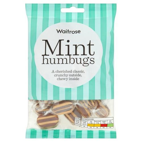 Waitrose Mint Humbugs 225g