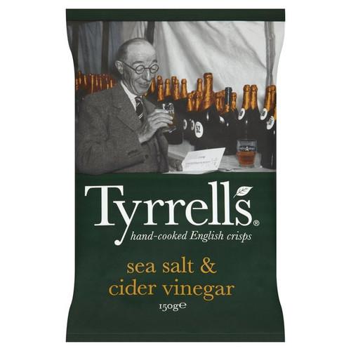 Tyrrells Sea Salt & Cider Vinegar Crisps 150g