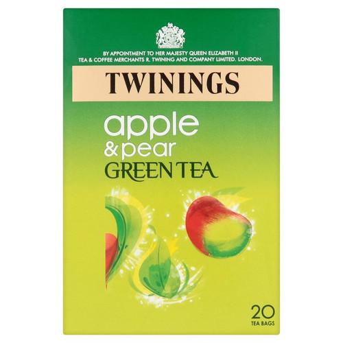 Twinings Apple & Pear Green Tea 20 per pack