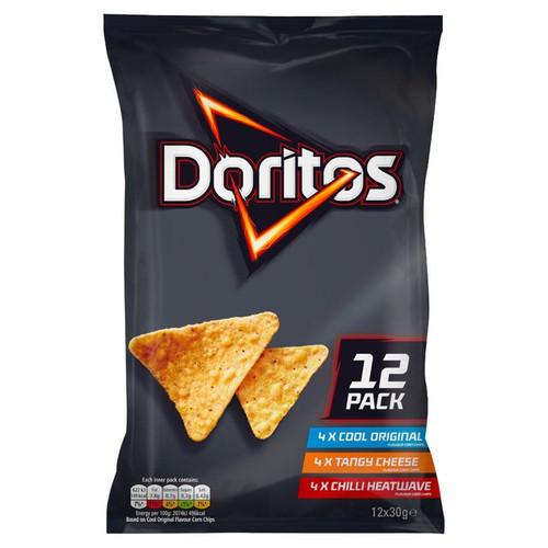 Doritos Variety Tortilla Chips 30g x 12 per pack