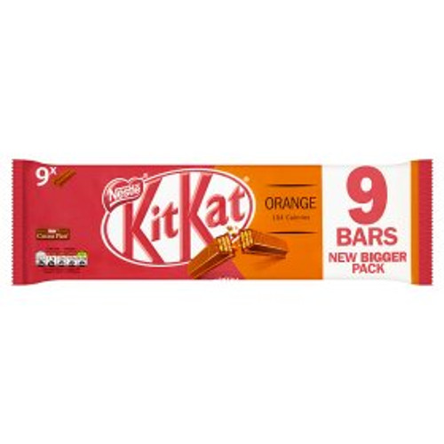 Nestle KitKat 2 Finger Orange Chocolate Biscuit Bar 9x20.7