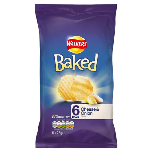 Walkers Baked Crisps Cheese And Onion