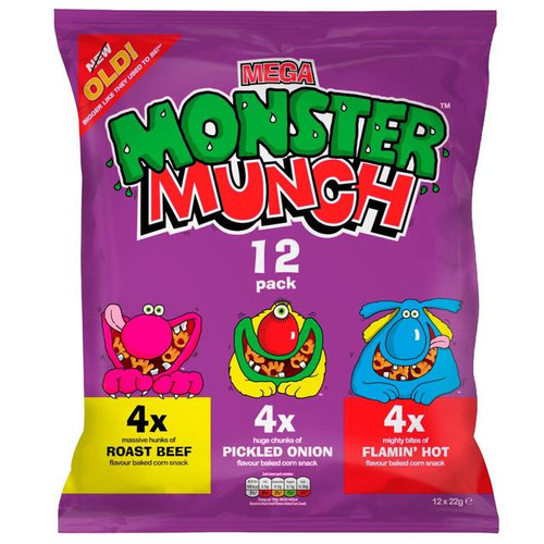 Walkers Mega Monster Munch Variety 12 Pack