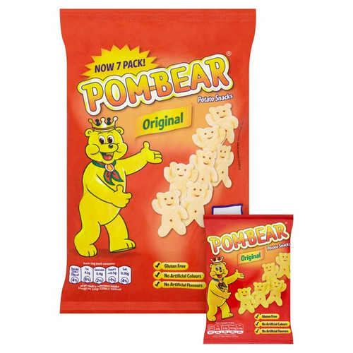 Pom Bear Oringinal Snacks 6 x 15g