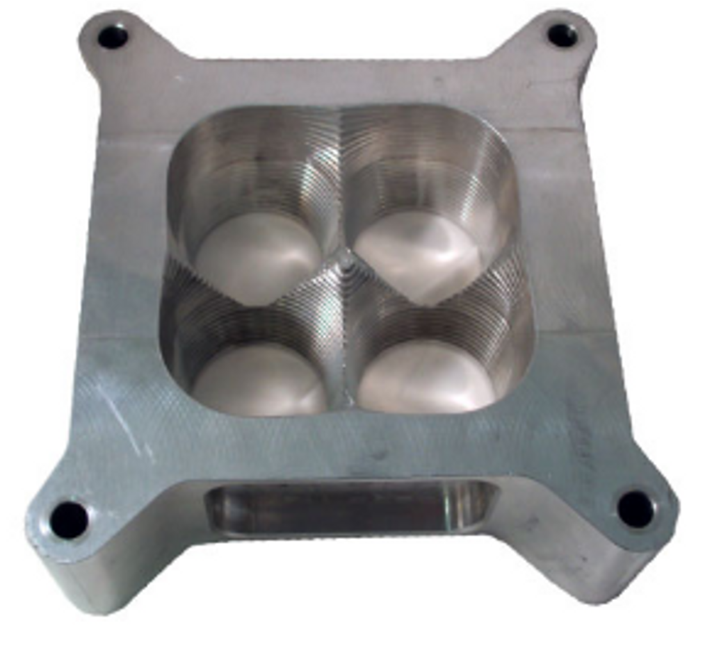 """2"""" x 4150 CNC 585 - 4 Hole Carb Spacer"""