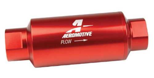 Aeromotive 100 Micron ORB-10 Red Fuel Filter 12304