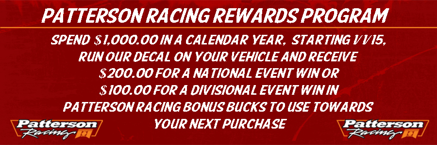 Patterson Racing Bonus Bucks