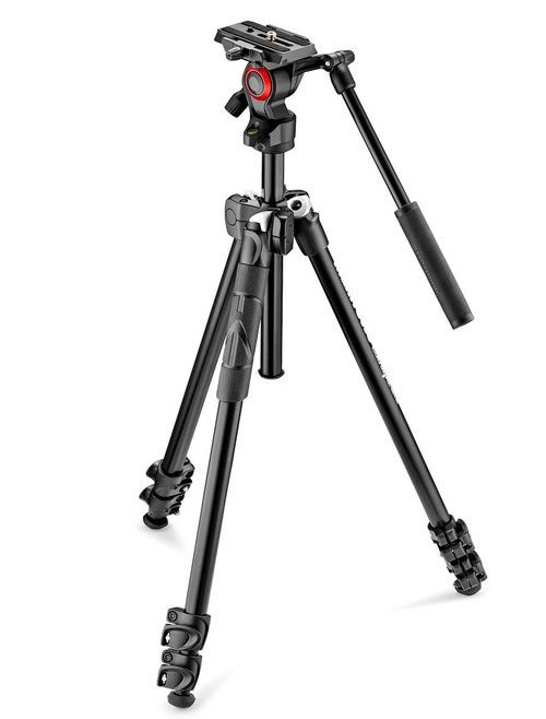 Manfrotto 290 Light Aluminium Tripod With Befree Live Fluid Video Head