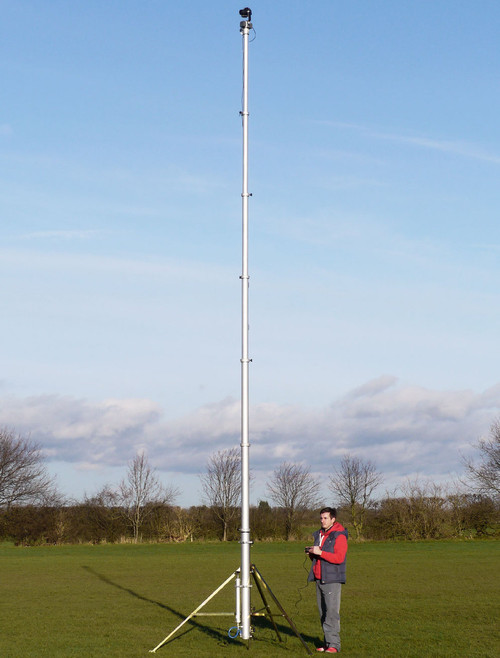 Hague 7.5m Highshot Camera Mast With Stand & PH100 Powerhead Kit 3