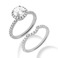 Willowbrook 1 to 1.5CT Pre-Set Diamond Engagement Ring With Wedding Band