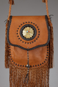 Cheyenne Leather Bag - Tobacco & Chocolate with Large Sunface