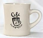 White Cafe Campesino Diner Mug