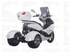 IceBear Q6 (PST50-17) 50cc Trike Gas Street Legal Scooter